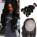 Черная Пятница Предложения 360 Кружева Фронтальная Закрытие С Bundle Бразильский Объемная Волна Virgin Hair 3 Связки С Кружевом Фронтальной 22x4x2