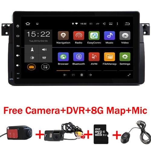 9 pouces HD écran tactile Android 9.0 lecteur DVD de voiture pour BMW E46 M3 avec Wifi 3G GPS Bluetooth Radio RDS carte de commande au volant