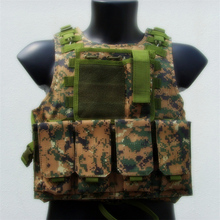 Hunting Amphibians combat Molle design military Tactical vest jungle camo color WIRE STEEL IN