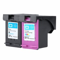 2 Pack For HP 301 XL Ink Cartridge Replacement 301XL CH563EE CH564EE For HP Deskjet 1000