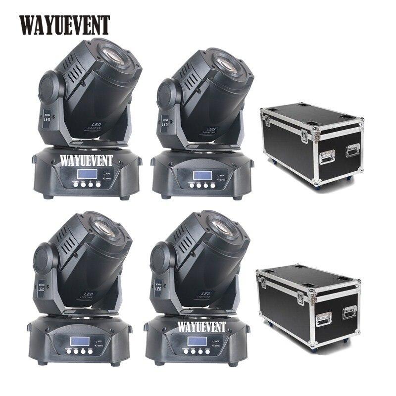 4pcs 90W Lyre LED moving head Light DJ Nightclub Party Disco 90W Moving Head Spot LED GOBO Pattern Stage Light