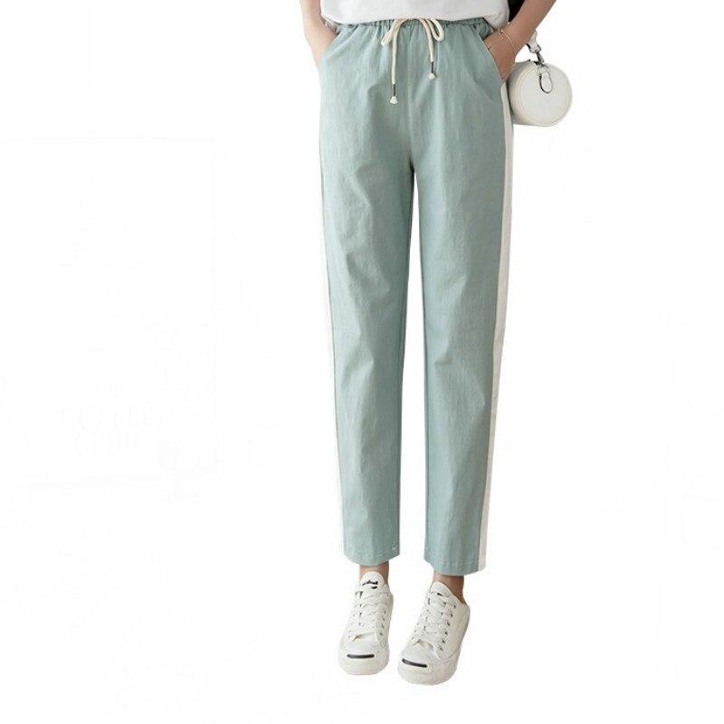 Cotton Linen Nine Pants Women