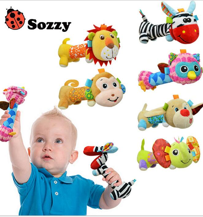 JJOVCE 30pcs/lot Baby Rattles Plush Toys Mobiles Infant