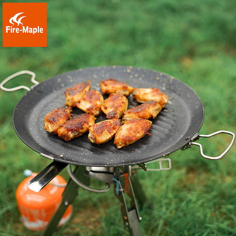 Fire Maple Outdoor Maifan Mineral Coated Frying Pan with a Mesh Carrying Bag