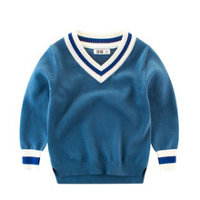 Funfeliz Boys Sweaters V neck Solid Color Sweater for Boys Spring Autumn Winter Kids Knitwear Pullover Casual Children Cardigan children s sweaters kids boys girls knitted sweater spring autumn toddler sweaters slim knitwear pullover ribbed cardigan tops