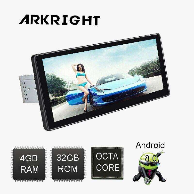 Новые 10,25 ''1 Din 4 ГБ оперативной памяти 32 ГБ флэш Android 8,0 PX5 Восьмиядерный головное устройство аудио стерео радио Универсальный мультимедийный ...