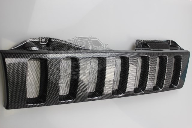 Free Shipping Carbon Fiber Grille For Suzuki Jimny 2012 JB43 Offroad accessories grill with bug mesh