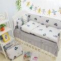 4 UNIDS Tamaño Personalizado Unisex ropa de Cama de Bebé Niño Establece En Cuna 100% algodón ropa de Cama Cuna Establece Para Las Niñas En una Cuna Para Recién Nacido bebé
