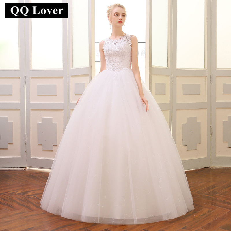 QQ Lover 2019 Ball Gown Wedding Dress 2019 Customized Plus