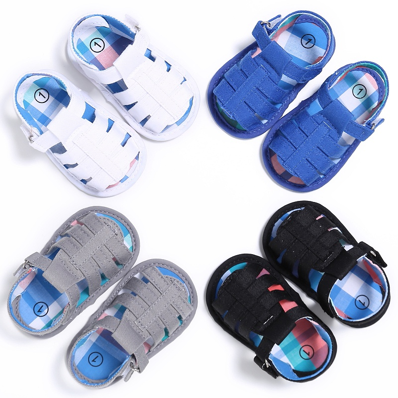 Summer Newborn Baby Boys Shoes Casual Breathable Hollow Shoes Kids Slippers Prewalker 0-18M