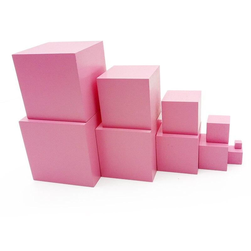 JaheerToy Träleksaker för barn Pink Tower Geometric Assembling - Byggklossar och byggleksaker - Foto 2