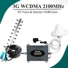 Wyświetlacz LCD Lintratek UMTS 2100 wzmacniacz sygnału komórkowego mały rozmiar telefon komórkowy 3G Repeater 65dB wzmacniacz wzmocnienia 3G zestaw antenowy #37