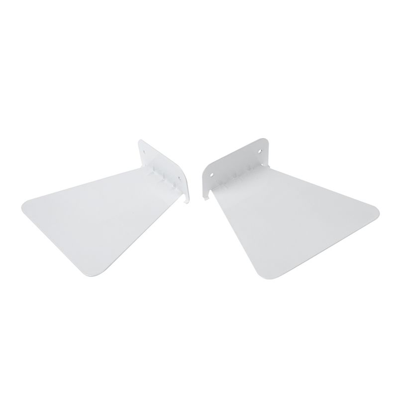 Bookshelf:  2pcs Modern Iron book shelf wall invisible bookshelf for home decoration Floating Bookshelf(White) - Martin's & Co