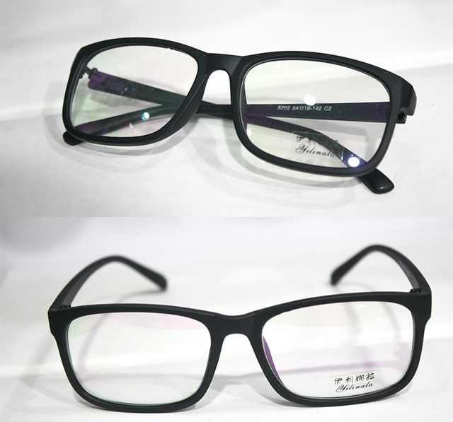 5dd8b60da7 Fullrim matte black fashion Myopia glasses Optical Custom made optical  lenses Reading glasses -1.00 to