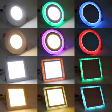 RGB LED Downlight 3W 6W 12W 18W Round Square Recessed Lamp AC 85-265V Led Bulb Bedroom Kitchen Indoor LED Spot Lighting