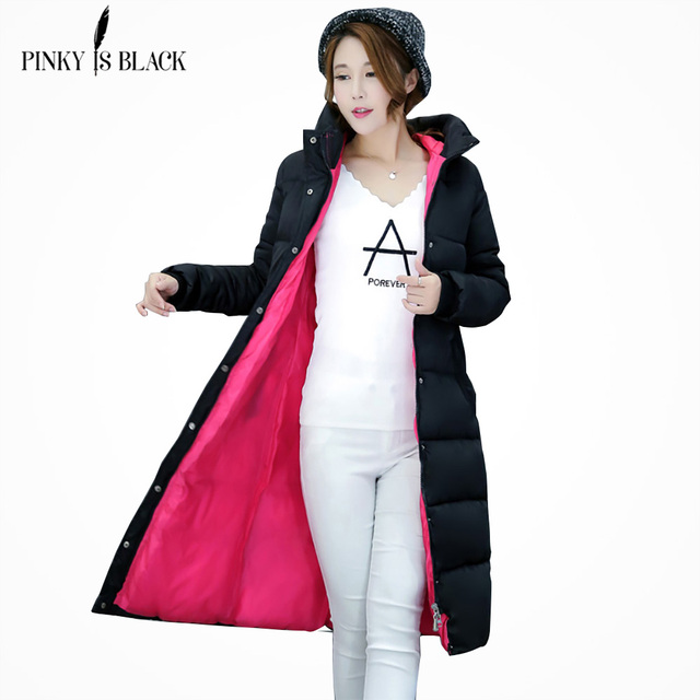 PinkyIsBlack 2019 new thicken wadded jacket outerwear winter jacket women coat long parkas cotton padded hooded jacket and coat