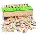 Materiais de Montessori de Aprendizagem forma caixa de Categoria de matemática didáctico Crianças brinquedo educacional de madeira