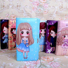 Japan Sweet Girl Pattern Fashion Wallet Lady Purses For Kids Girls Coins Purse Bag Long