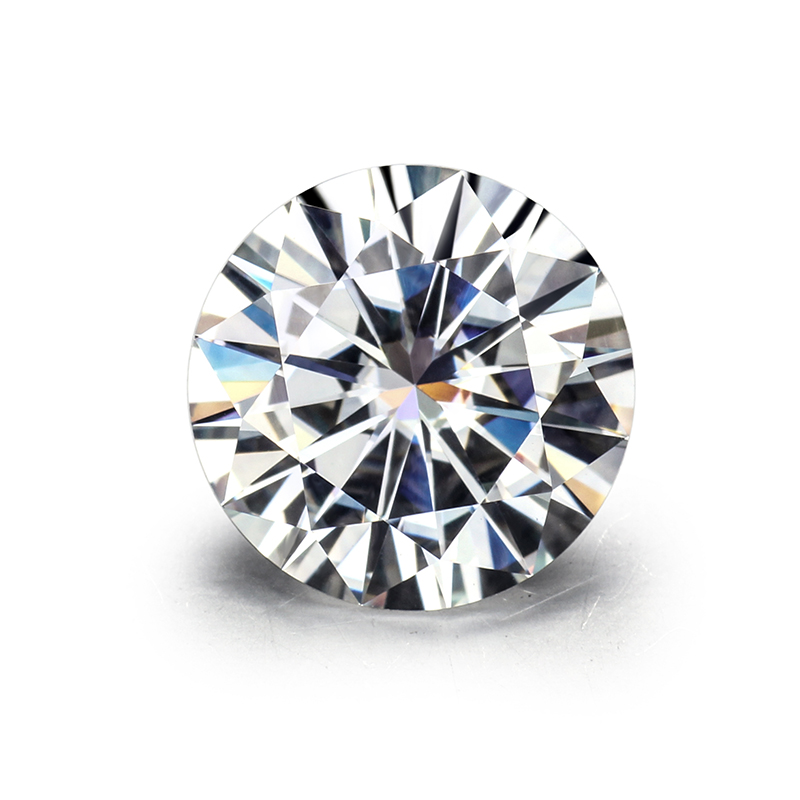 Top Quality EF Color Round Brilliant Cut 8 0mm 2ct Loose Moissanites Gemstone