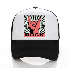 fashion Rock logo baseball caps Men and women Summer Mesh Caps Music logo band hat dad cap hip hop snapback hats judas priest heavy metal band mesh cap summer fashion men women rock baseball caps rock music fans trucker hat letter casual hat