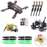 Carbon Fiber ZMR250 C250 Quadcopter & 2204 2300kv Motor & Emax BLHeli 12A Esc & CC3D EVO Flight Controller 5030 Prop VS QAV250