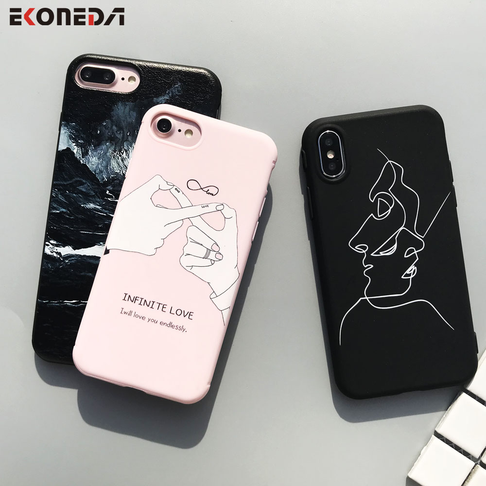 EKONEDA Soft TPU Phone Case For iPhone 6S Case Silicone