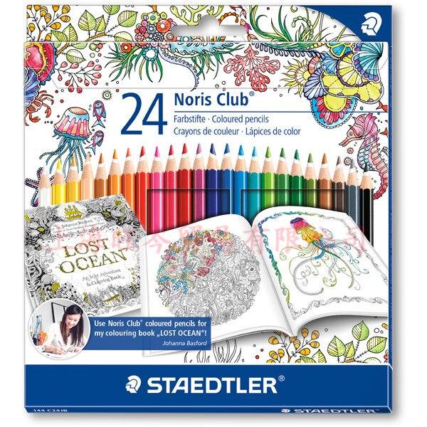 Staedtler 144 C24JB 24 couleurs crayons de couleur dessin papeterie fournituresStaedtler 144 C24JB 24 couleurs crayons de couleur dessin papeterie fournitures