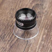 15X монокуляр, увеличительное стекло лупа объектив карта глаз ювелирное украшение в виде лупы инструмент для ремонта