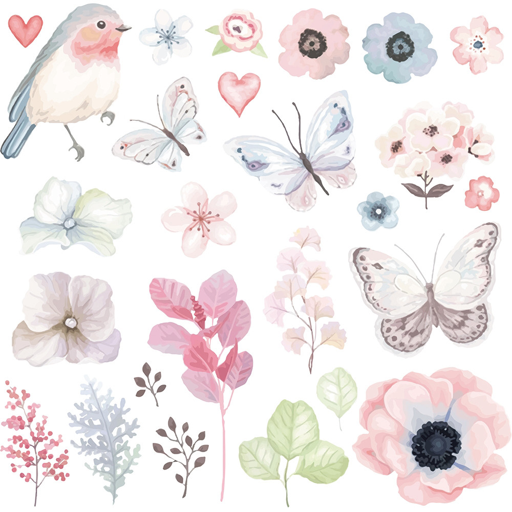 Transfer Paper Patches Clothing Flowers Butterfly Bird New Beautiful Sakura Moth Hanger 160 Gr T Shirt Sweater Thermal Diy Decor 2018 Fashion In From Home Garden On
