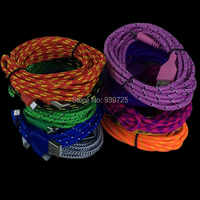 100pcs/lot 3M 10FT Nylon/Fabric Micro cable Accessory Bundles For Samsung Galaxy S4/ for HTC,Free Shipping