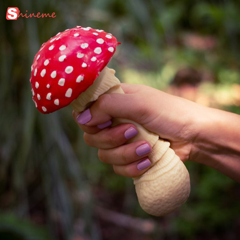 1PCS soft mushroom stress relief squeeze toy funny gadgets anti stress toys novelty rubber antistress toy funny gift joke toys