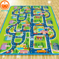 2 Meter Foam Play Mat Baby Crawling Mat Child Picnic Carpet Baby Floor Mat Child Beach Mat City Traffic Bebe Alfombra Juego PX24