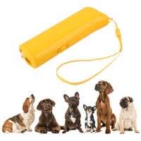 Répulsif pour chien Anti aboiement dispositif de dressage pour chiens entraîneur pour animaux de compagnie avec éclairage à ultrasons 3 en 1 Anti aboiement fournitures pour animaux de compagnie DP/en gros