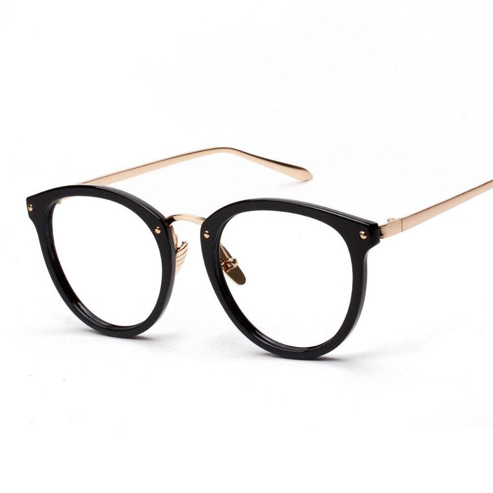 Corea Moda Mujer de los Vidrios Ópticos Marcos de Monturas de gafas ...