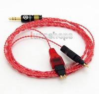 LN004600 130cm Red Custom OCC Hifi Cable For Sennheiser HD25 HD265 HD525 HD535 HD545 HD565 HD 222 HD 224 HD 230 HD 250 HD 250