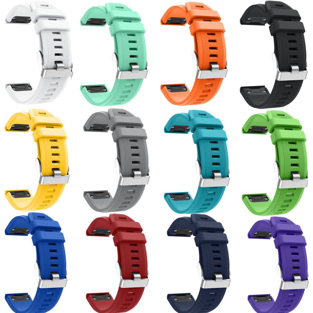 Joyozy Strap Watchband for Garmin Fenix 5 Fenix5 Multisport GPS Watch 22mm Sports Silicone Quick Release Wrist Band With Tools silicone watchband strap with pins for garmin vivoactive hr sports gps smart watch with tools