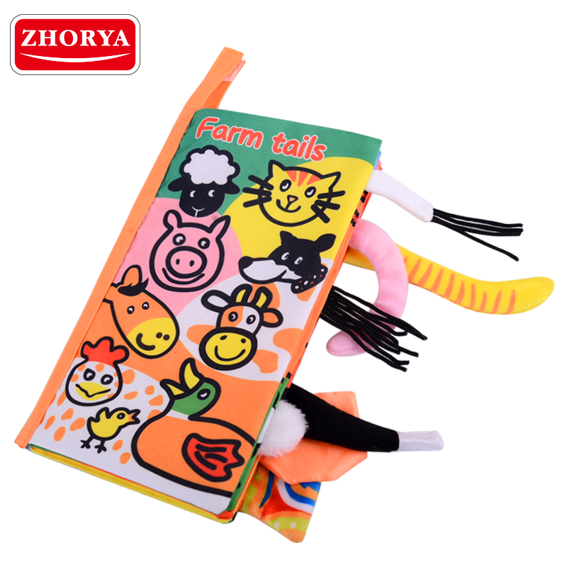 Fabric Material Customize Soft Cloth Baby Book For Children