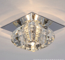 LED crystal ceiling light for aisle /porch  modern living room crystal light 3/5W embeded small crystal ceiling lighting