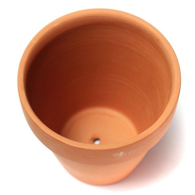HOT 3pcs Brown Clay Small Terracotta Plant Flower Pot Holder Decor