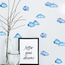 Adhesivos de pared creativos móviles, con decoración de nubes y cielo azul, decoración de ventanas para paredes