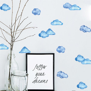 Image 1 - נייד Creative קיר מדבקות כחול שמיים ענן מודבק עם דקורטיבי קיר חלון קישוט vinilos decorativos para פרדס