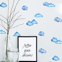 Mobile Creative Wall Stickers  Blue Sky Cloud Affixed With Decorative Wall Window Decoration vinilos decorativos para paredes