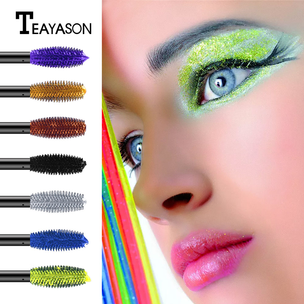 Teayason thick curling lengthening eyelash extension cream colorful vampire pigment waterproof long lasting mascara AM080