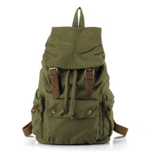 Canvas mens backpack outdoor high-capacity mountaineering backpacking college student  tours bag