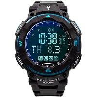Спортивные Смарт часы для светодио дный Мужчин Кварцевые LED подсветка секундомер м 100 м водостойкий для iphone X S 8 s 7 Android IOS 6,0 мобильный телефон