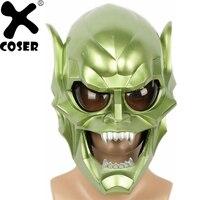 XCOSER новая распродажа человек паук Зеленый Гоблинская маска Мужчины Прохладный полный Вечерние лицо Вечеринка Косплей Аксессуары дьявол Мо