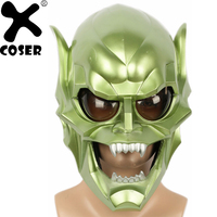 XCOSER New Sale Spider Man Green Goblin Mask Men Cool Full Face Party Cosplay Accessories Devil Monster Prop Christmas Gift