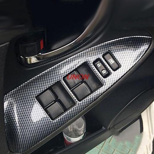 Adapté pour Toyota RAV4 2009-2013 porte intérieure lève-vitre interrupteur panneau couvercle garniture voiture style