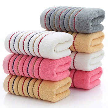 100% Cotton Striped Towels Set Soft Bath Thick Shower Bathroom Home Spa Face Towel for Adults Kids Toalla Serviette Handtuch