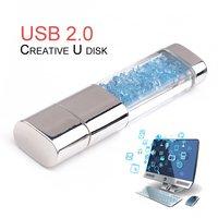 5pcs Fashion USB2.0 Crystal U Disk Waterproof 8G USB Flash Drive Portable Pen Drive Mini USB Stick For Computer Laptop